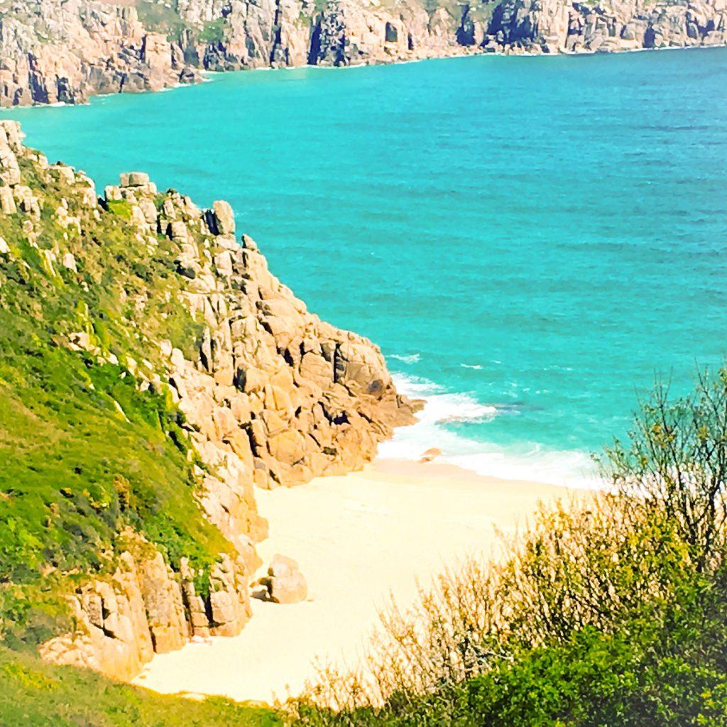 Porthcurno Beach.
